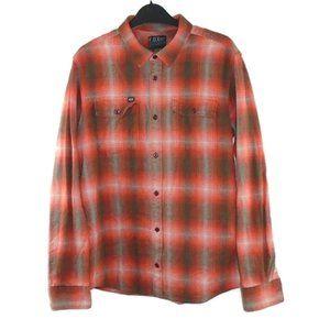 Fox Racing Mens Long Sleeve Plaid Flannel Shirt M
